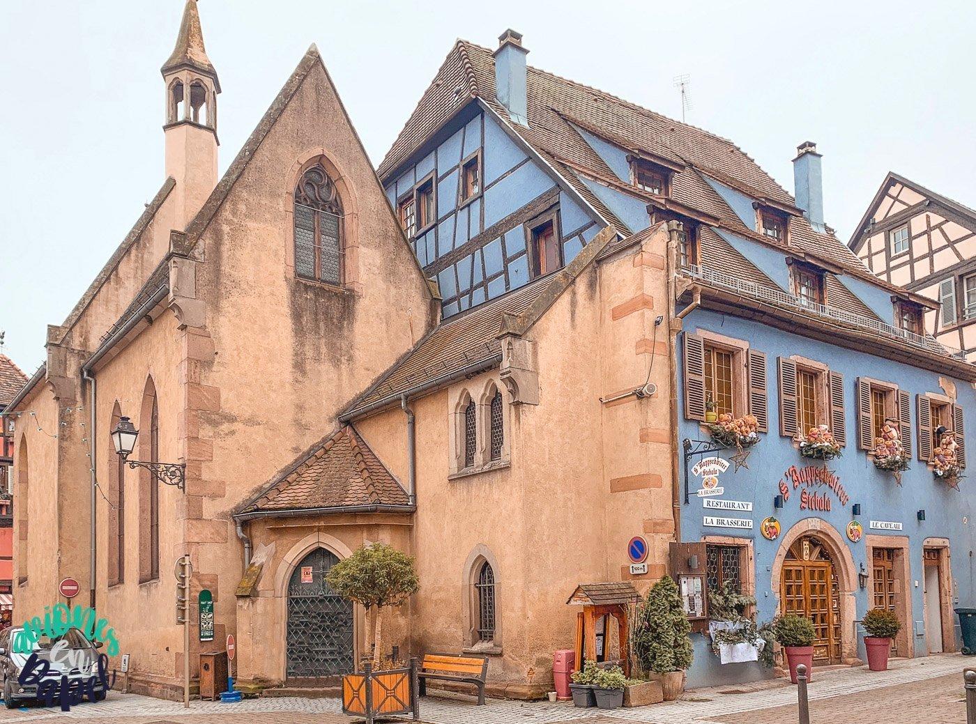 Pueblo Ribeauvillé en Alsacia