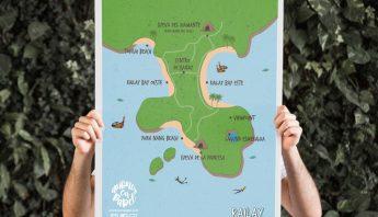 Mapa para descargar de Railay en Krabi (Tailandia)