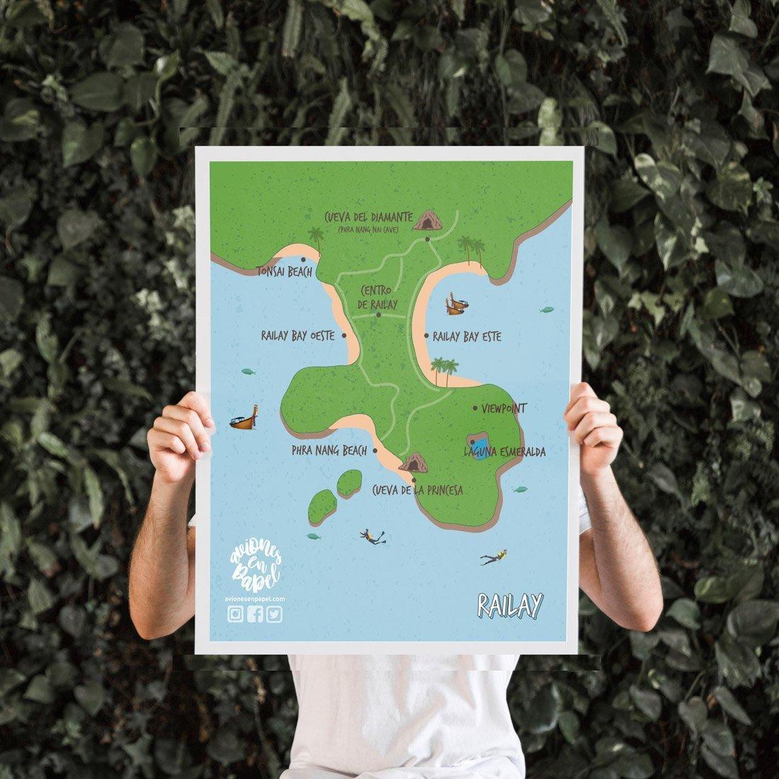 Mapa para descargar de Railay