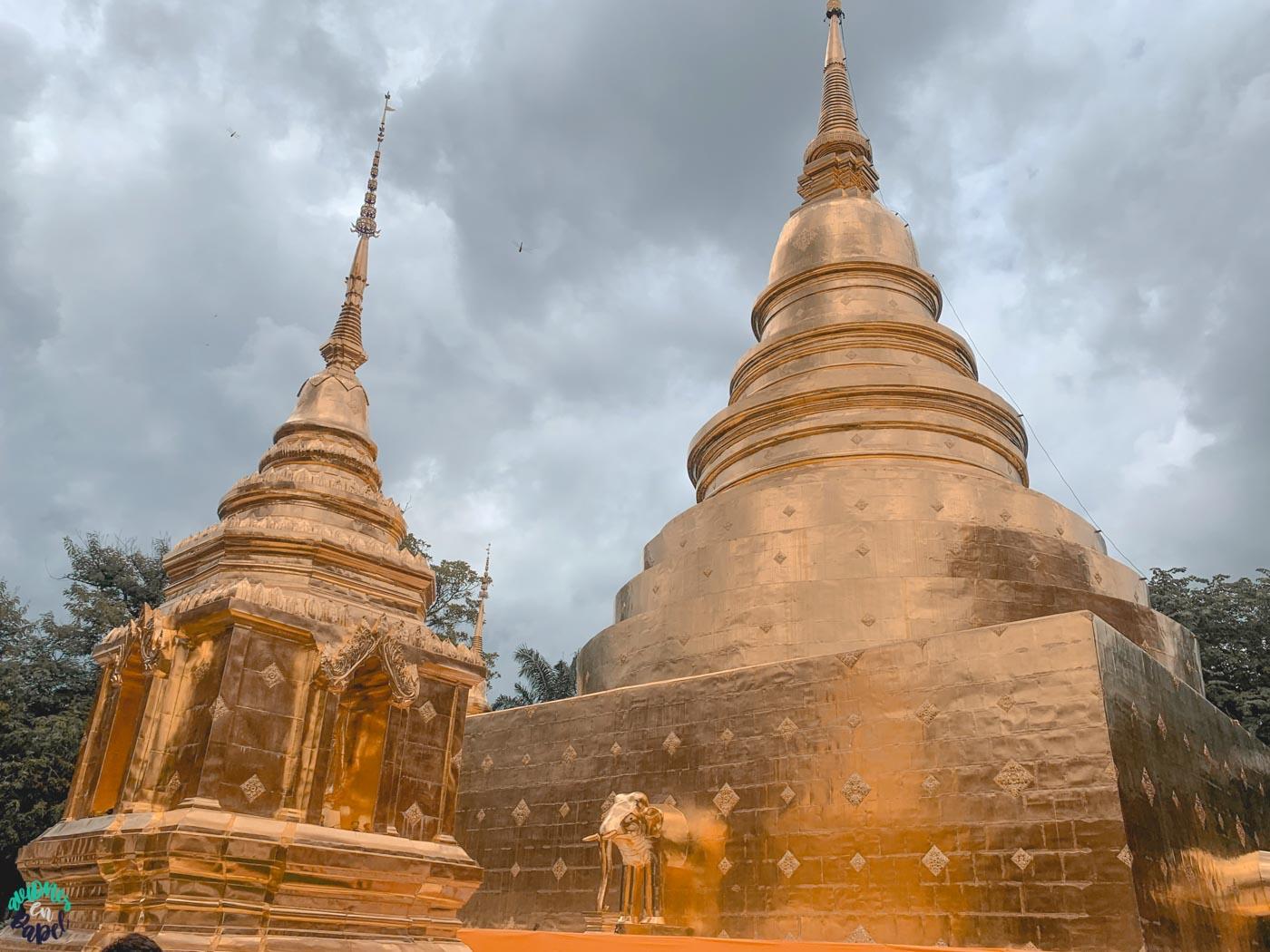 Qué ver y hacer en Chiang Mai en 3 días: Chedi del Wat Phra Singh