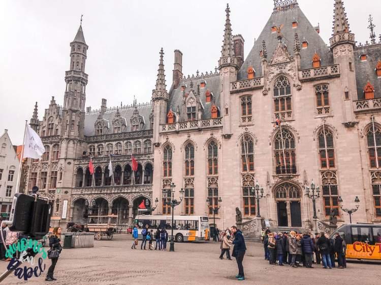 Landhuis o Palacio de la Justicia en Brujas, Bélgica