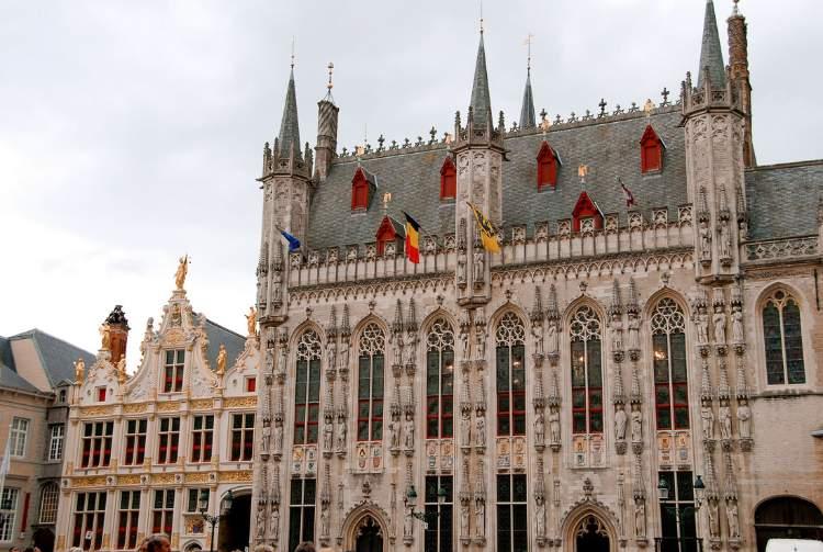 Stadhuis o Ayuntamiento de Brujas, Bélgica