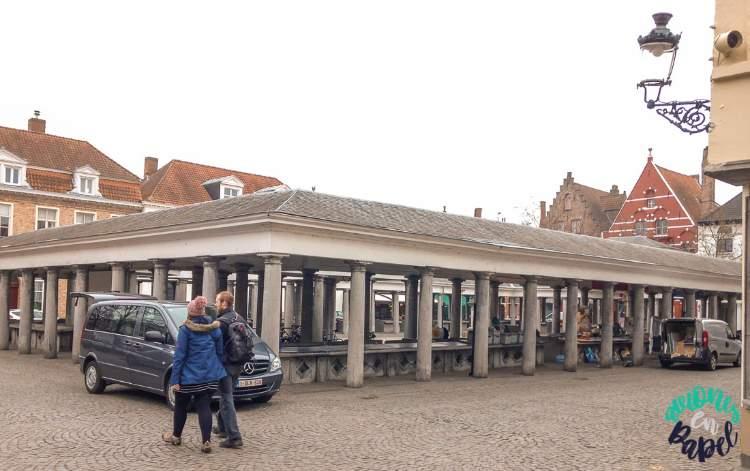 Vismarkt o Mercado del Pescado en Brujas, Bélgica