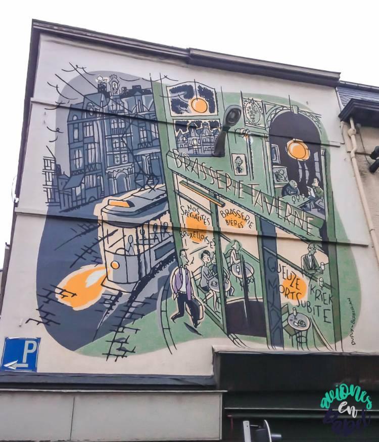 Mural ruta del cómico el Monsieur Jean, Bruselas