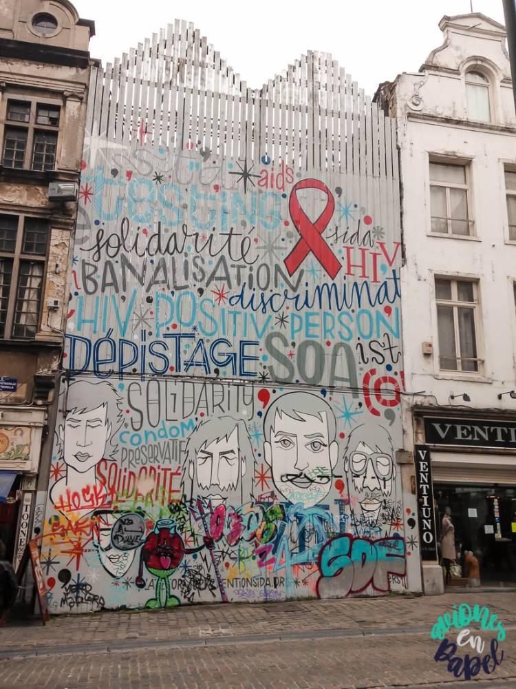 Mural VIH, Bruselas