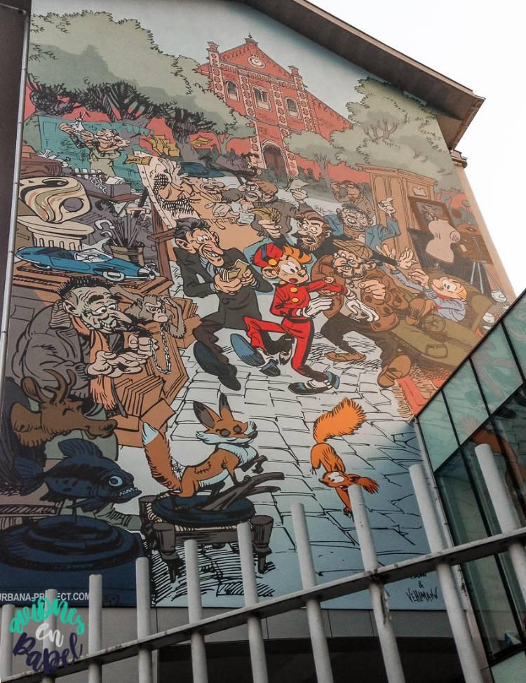 Mural Ruta del Cómic Spirou y Fantasio, Bruselas