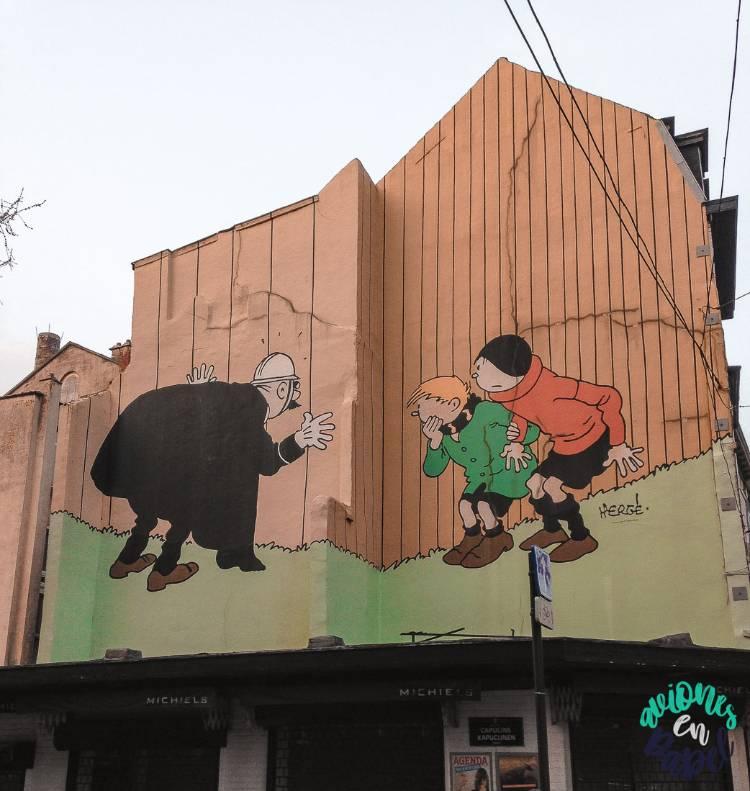 Mural Ruta Cómic Quick et Flupe (Quique y Flupi), Bruselas