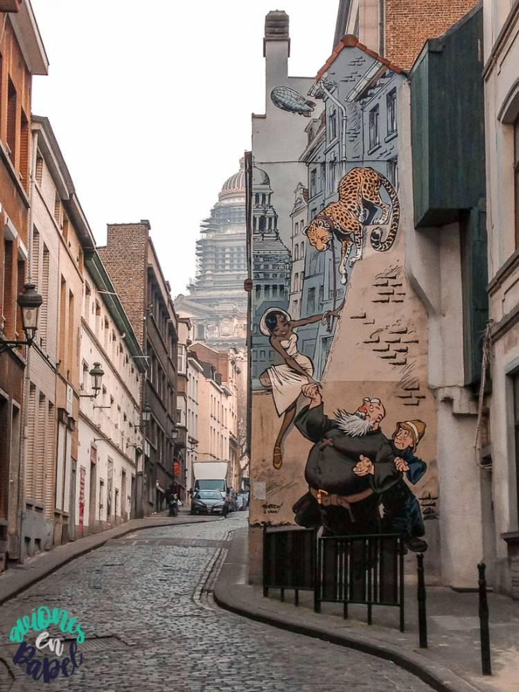 Mural Ruta del Cómic Odilon Verjus - Verron & Yann, Bruselas