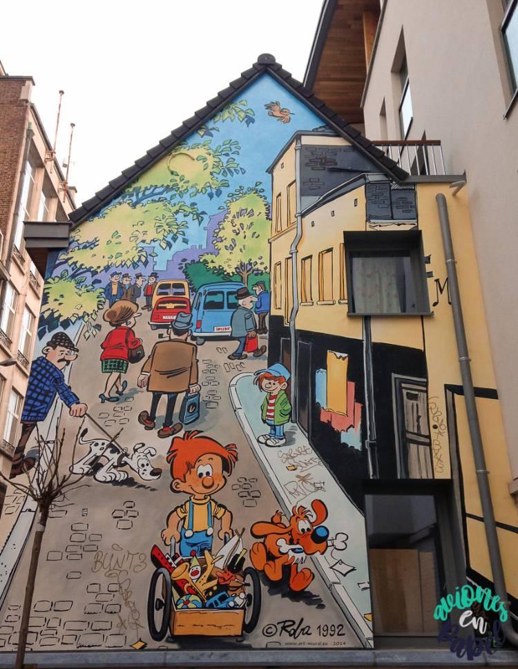 Mural Cómic Boulle & Bill, Bruselas