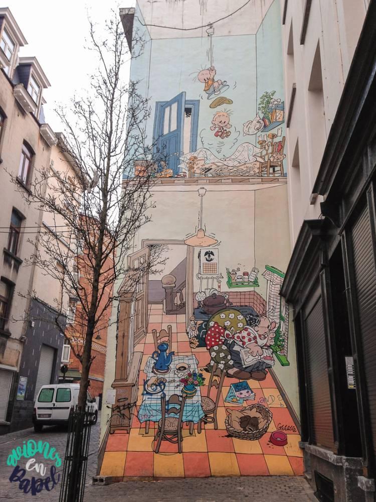 Mural Ruta del Cómic Jojo, Bruselas