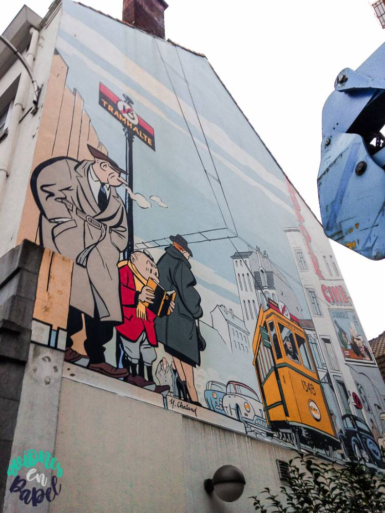 Mural Ruta del Cómic Le Jeune Albert, Bruselas