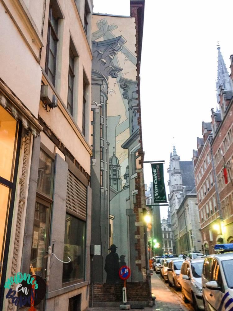 Mural Ruta del Cómic Le Passage, Bruselas