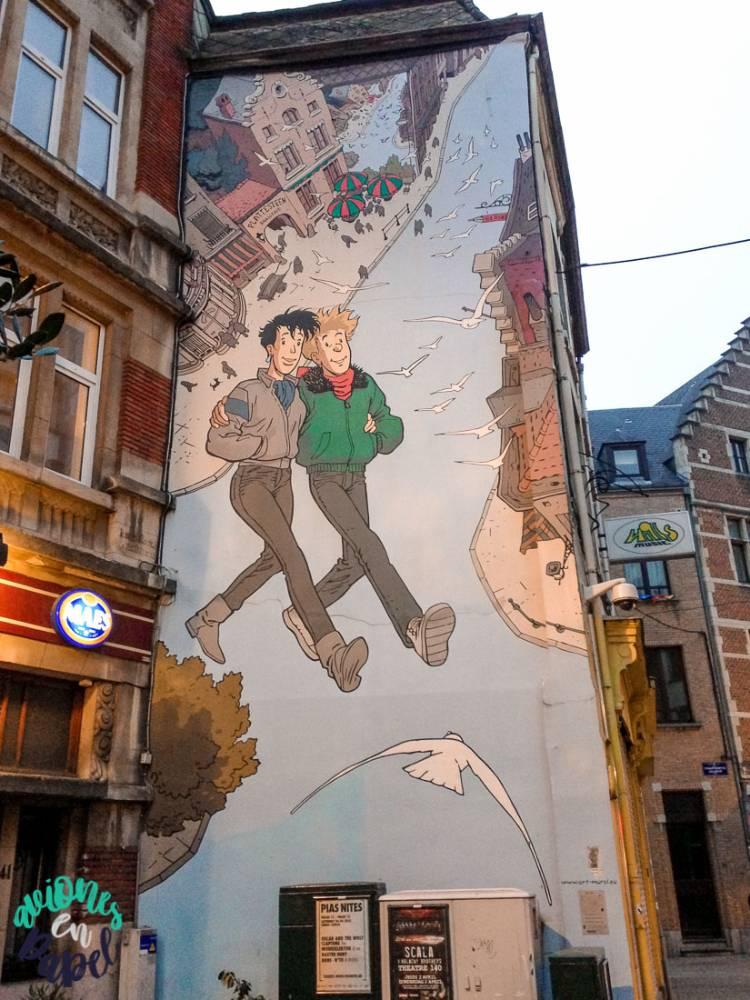 Mural Ruta del Cómic Broussaille, Bruselas