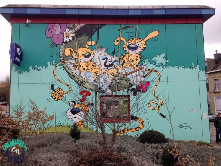 Mural Ruta del Cómic Marsupilami, Bruselas