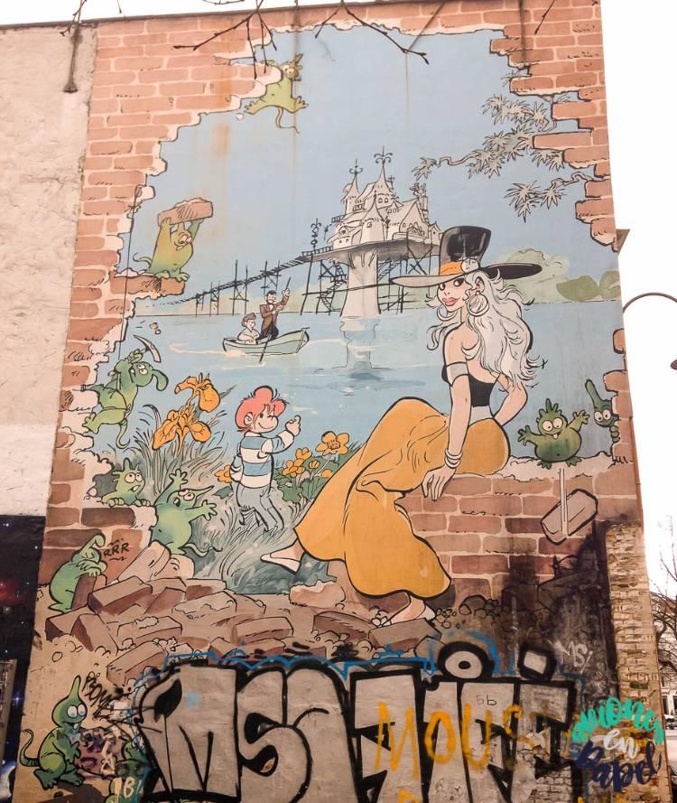 Mural Ruta del Cómic Isabelle, Bruselas
