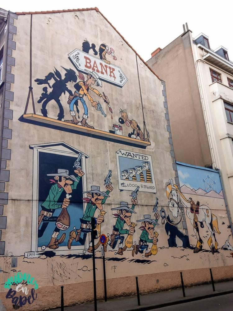 Mural Ruta del Cómic Asterix y Obelix, Bruselas