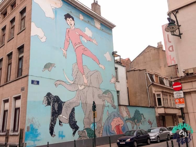 Mural Cómic Los sueños de Nic, Bruselas