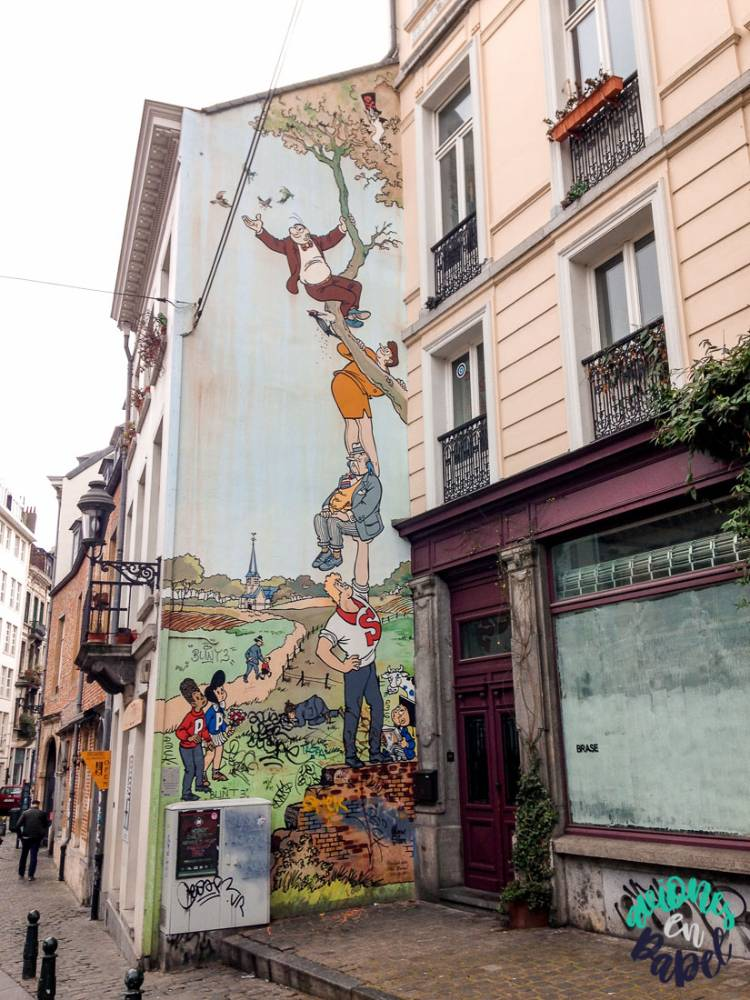 Mural Ruta del Cómic Las Aventuras de Nero, Bruselas