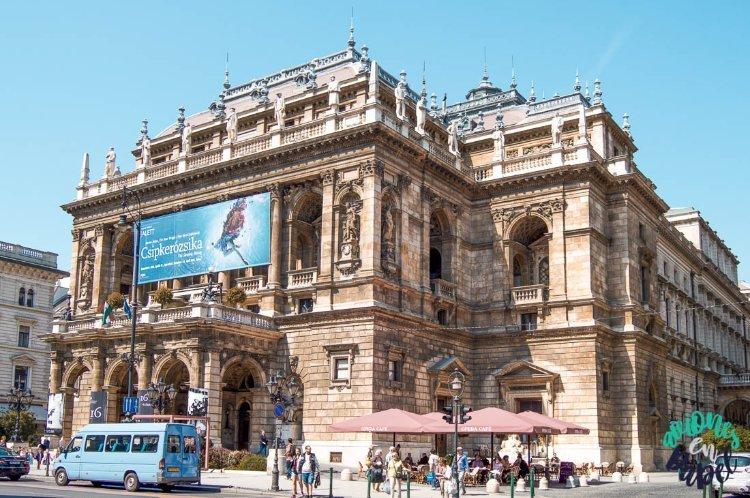 La Ópera, una de las cosas qué ver y hacer en Budapest en 4 días