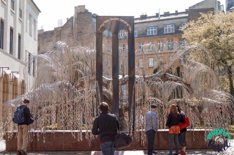 Árbol de la Vida en el cementerio de la Gran Sinagoga, Budapest