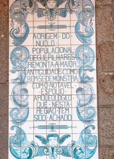 Azulejos inscritos en la Capela do Senhor da Pedra
