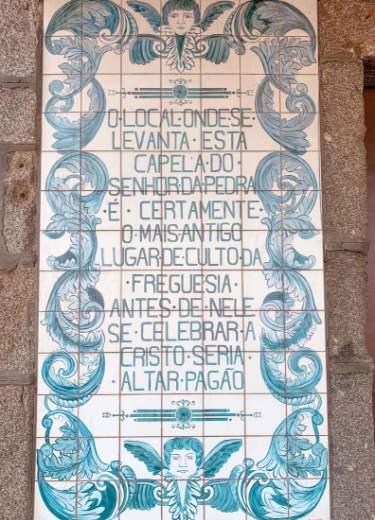 Inscripciones en la Capela do Senhor da Pedra