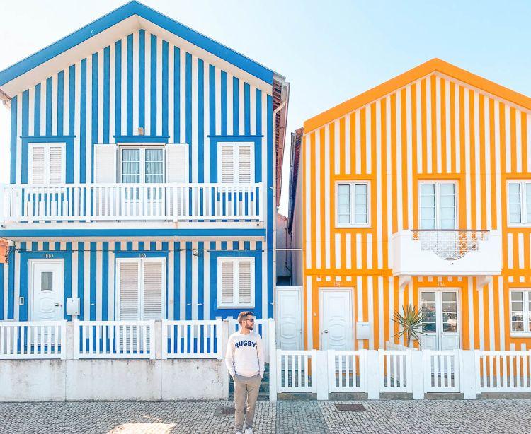 Qué ver en Costa Nova, el paseo de las casas de colores