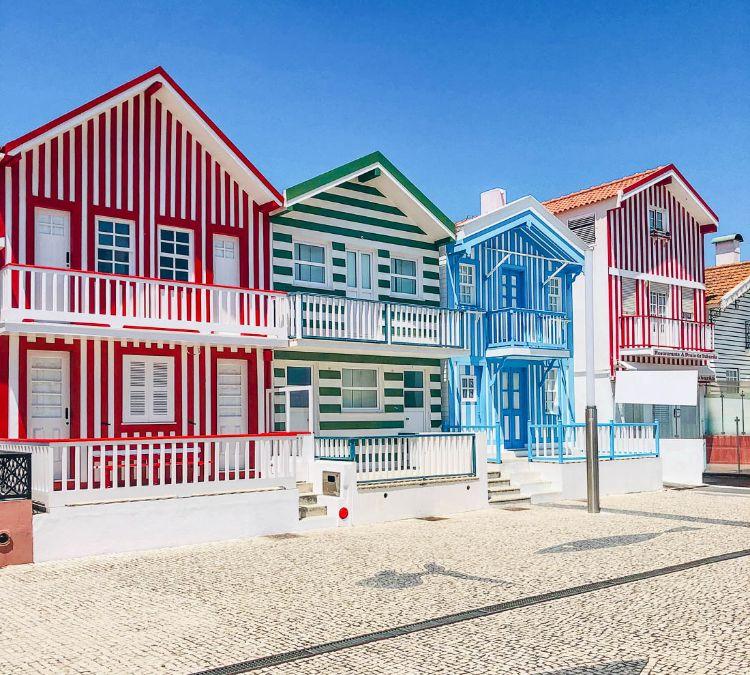Qué ver en Costa Nova - Casas de colores