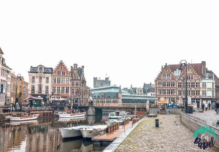 Muelles Korenlei y Graslei de Gante, Bélgica