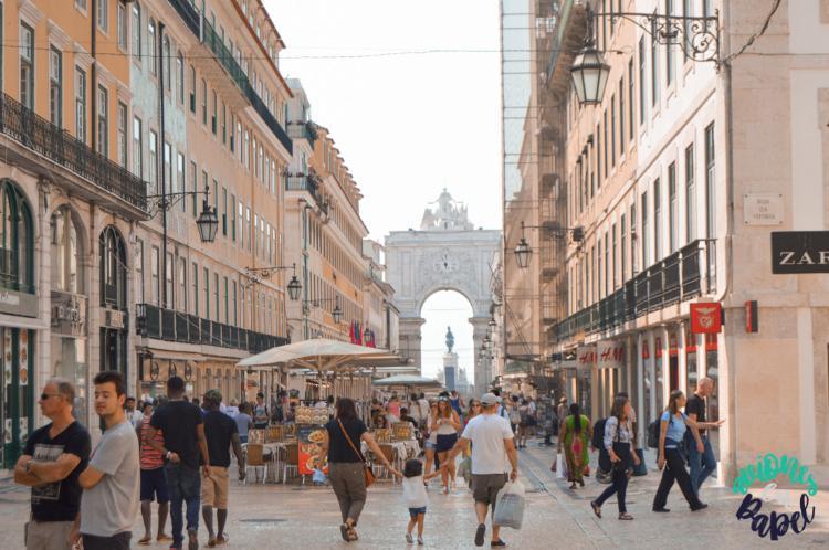 Qué ver y hacer en Lisboa en 3 días. Rua Augusta