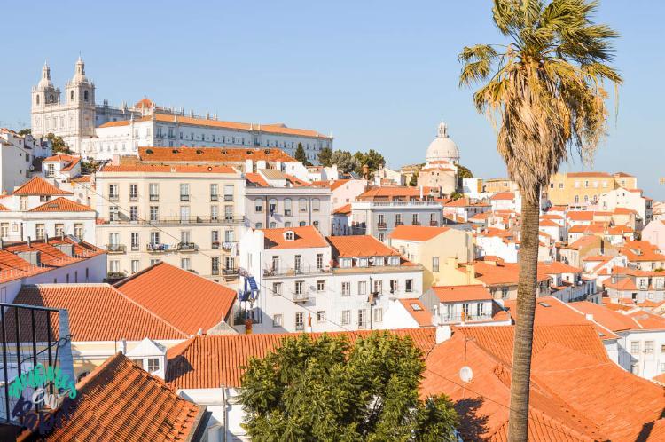 MIradouro das Portas do Sol, imprescindible qué ver y hacer en Lisboa en 3 días