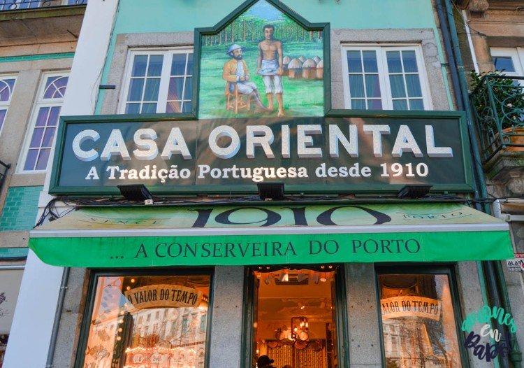 Casa Oriental. Tienda de conservas en Oporto