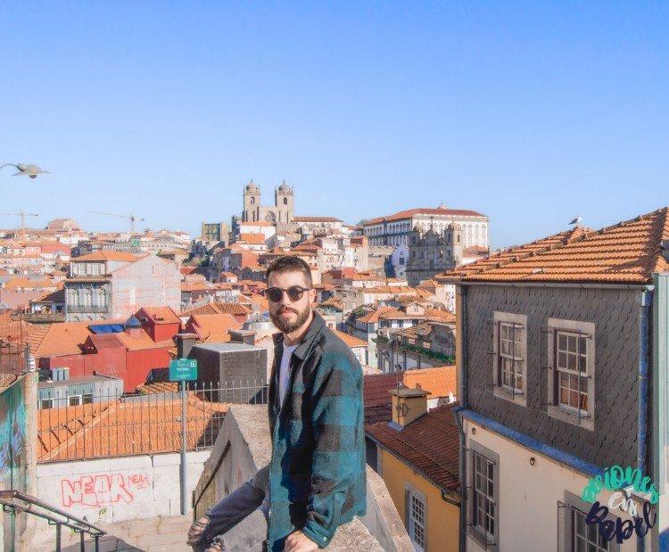 Vistas desde la zona baja del Miradouro de Vitoria