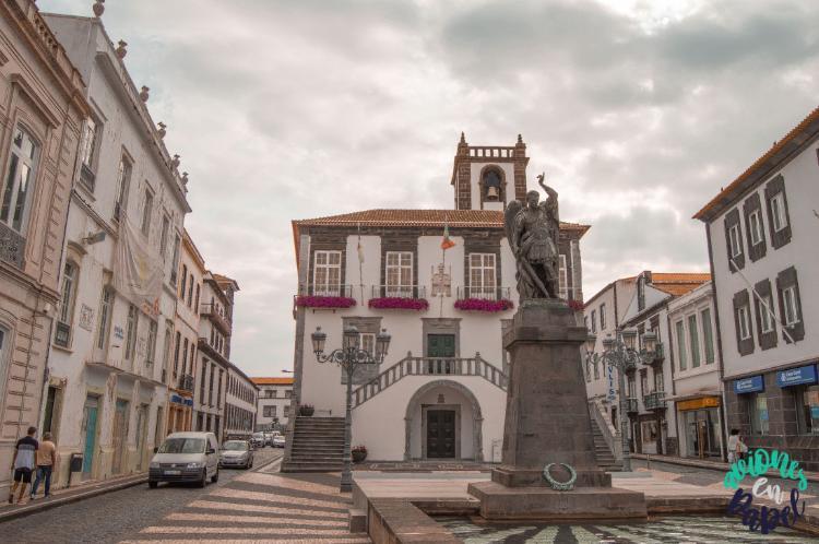 Praça do Municipio, Ponta Delgada. Sao Miguel