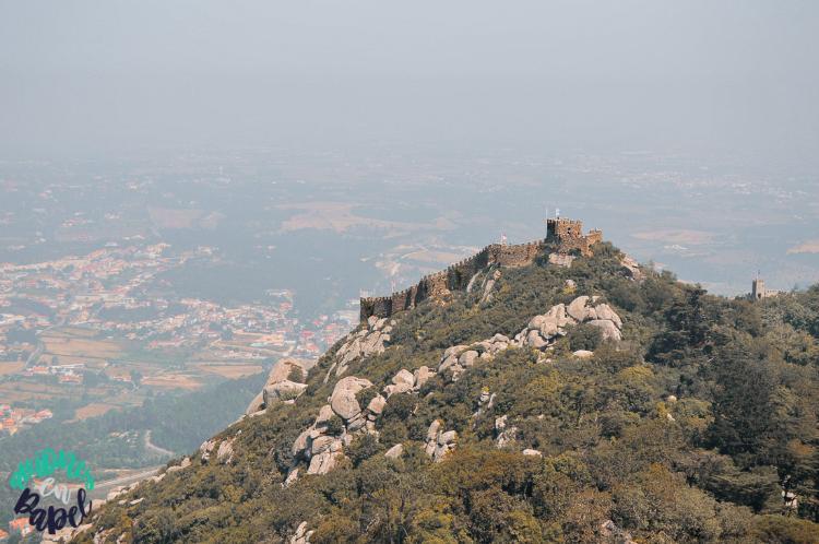 Castelo dos Mouros desde el Palacio da Pena. Sintra