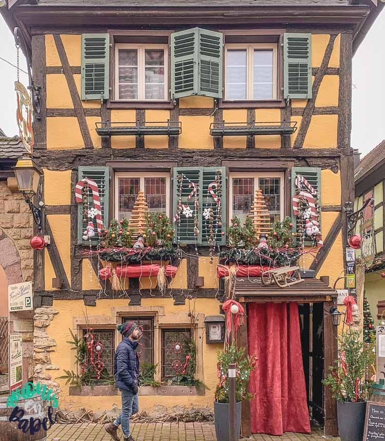 Arquitectura y edificios en la Grand Rue, Turckheim