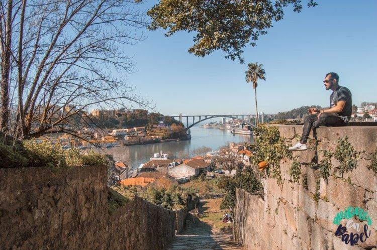 Atardecer en los Jardines del Palacio de Cristal, Oporto