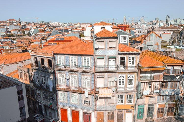 Vistas desde las escaleras de la Catedral de la Sé, Oporto