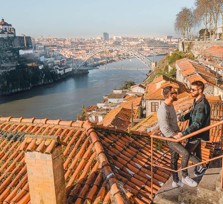 Los mejores miradores de Oporto: Passeio das Fontainhas