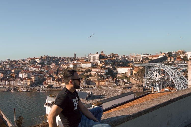Vistas desde el Jardim do Morro, Oporto
