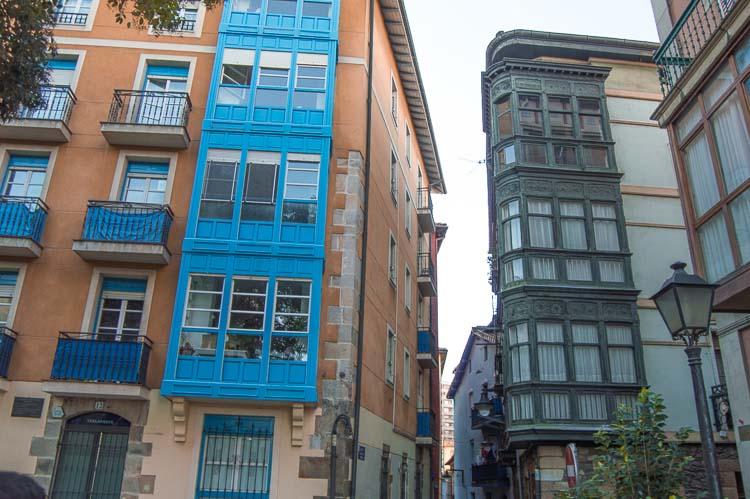 Casas de colores en Portugalete