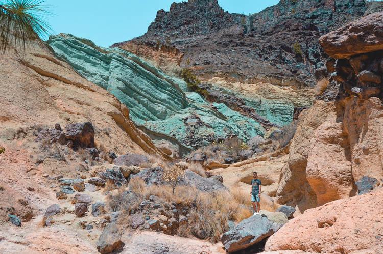Monumento Natural Azulejos de Veneguera, Gran Canaria