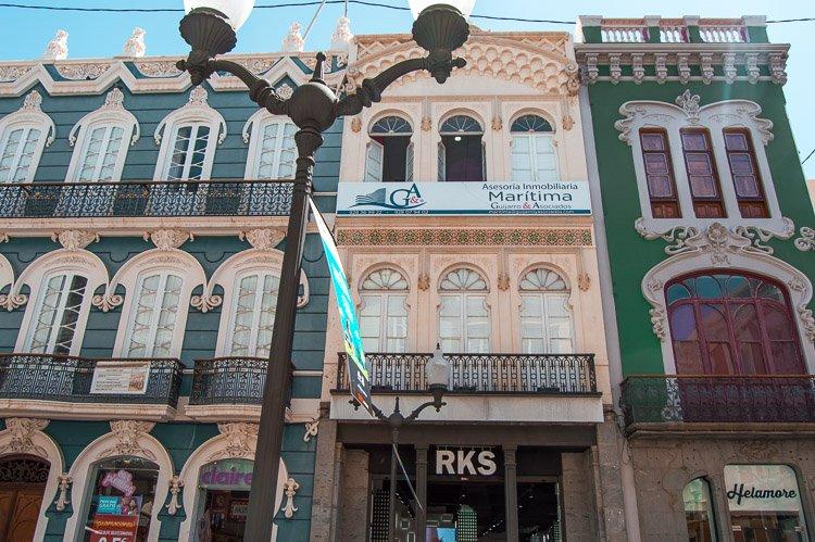 Casas Consistoriales en la Calle Mayor de Triana. Las Palmas