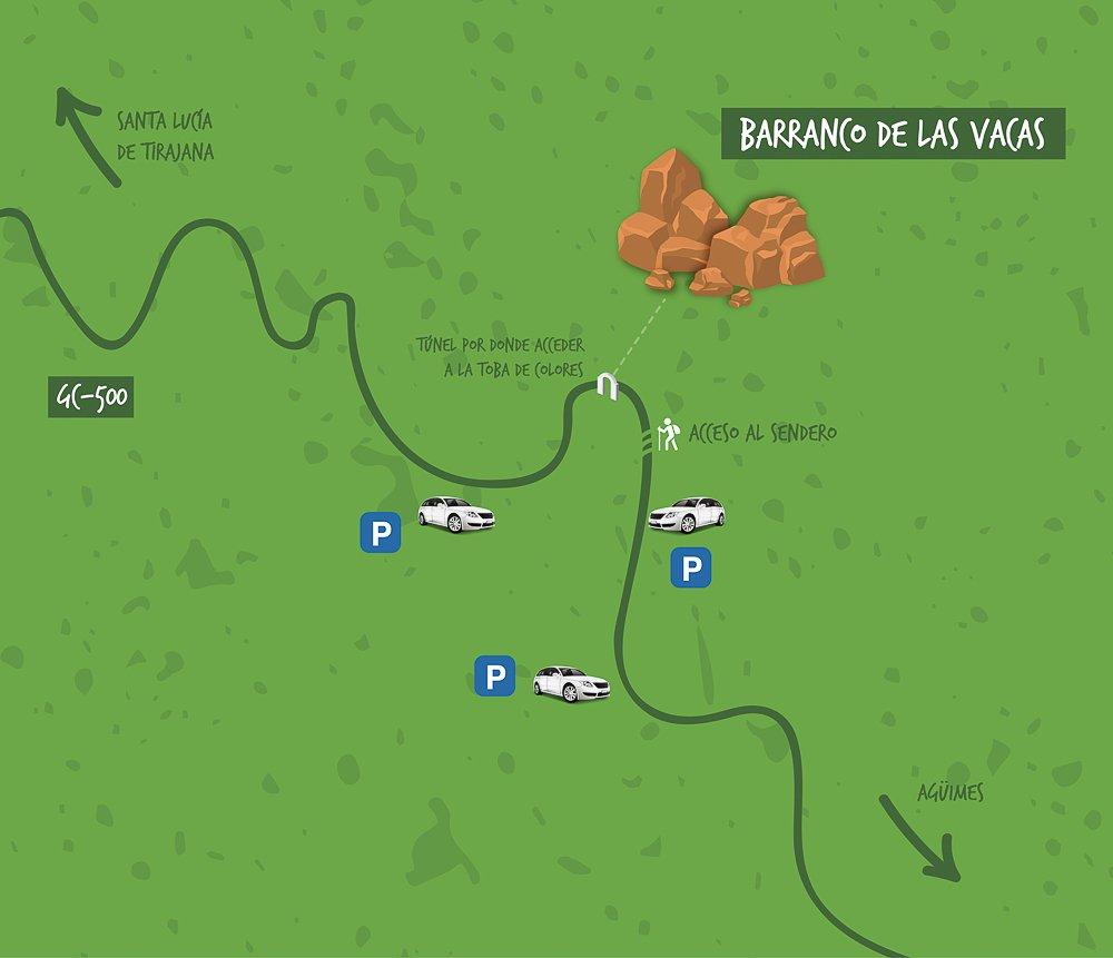 Cómo llegar al Barranco de las Vacas (Gran Canaria)