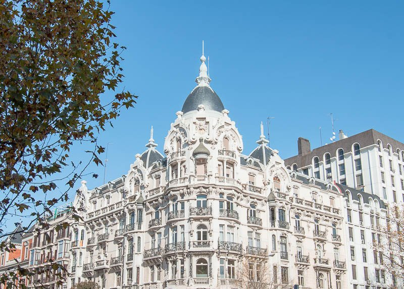 Casa Gallardo en la Plaza de España de Madrid