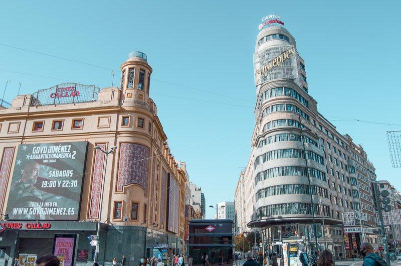 Plaza del Callao. Qué ver en Madrid en 2 días
