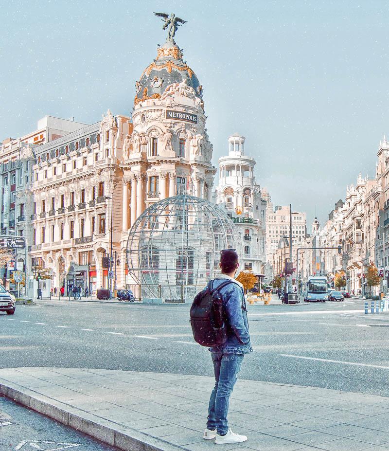 Edificio Metrópolis en la Gran Vía de Madrid