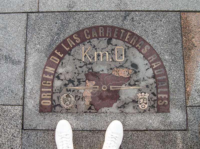 Kilómetro Cero, Puerta de Sol. Madrid