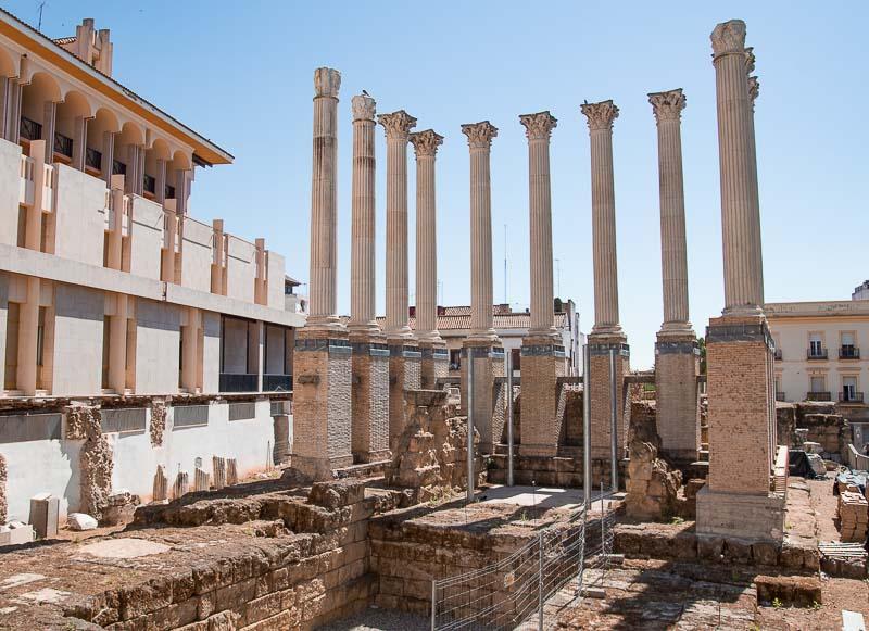 Antiguo Templo Romano en la ciudad de Córdoba