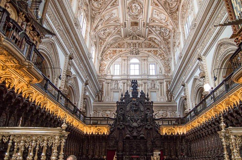 Coro de la actual Catedral de Córdoba